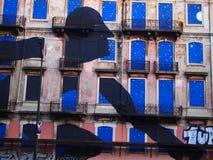 Scène urbaine prospère d'art de graffiti et de rue à Lisbonne, Portugal, 2014 Images stock
