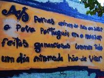 Scène urbaine prospère d'art de graffiti et de rue à Lisbonne, Portugal, 2014 Photo stock