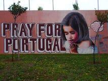 Scène urbaine prospère d'art de graffiti et de rue à Lisbonne, Portugal, 2014 Image libre de droits