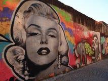Scène urbaine prospère d'art de graffiti et de rue à Lisbonne, Portugal, 2014 Images libres de droits