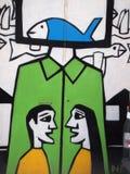 Scène urbaine prospère d'art de graffiti et de rue à Lisbonne, Portugal, 2014 Photos stock