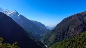Scène van de berg van Himalayagebergte, Nepal stock foto