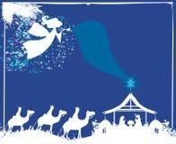 Scène van de Kerstmis de godsdienstige geboorte van Christus royalty-vrije illustratie