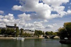 Scène van de rivier van de Zegen, Parijs Royalty-vrije Stock Fotografie