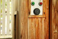 Scène van de sauna de houten cabine Stock Foto's