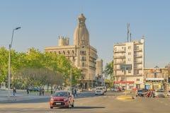 Scène van de de Weg de Stedelijke Dag van Montevideo stock fotografie
