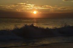Scène van het de Zon de vastgestelde Strand van Srilankan Royalty-vrije Stock Afbeeldingen
