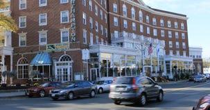 Scène van het Hotel van Northampton in Northampton, Massachusetts 4K stock footage