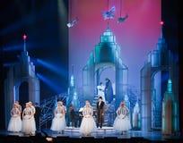 Scène van muzikaal. Muzikale Theatre.Moscow Stock Fotografie
