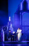 Scène van muzikaal. Muzikale Theatre.Moscow Stock Foto's