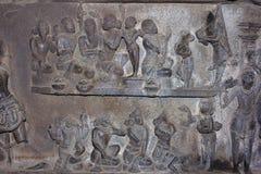 Scène van Ramayana, Bhuleshwar, Maharashtra stock afbeeldingen