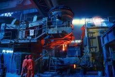 Scène van staal producerende workshop royalty-vrije stock foto's
