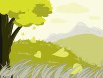 Scène venteuse verte Photo libre de droits