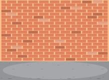 Scène vide de mur de briques illustration de vecteur