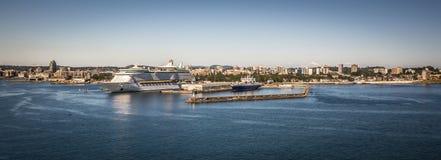 Scènes autour de terminal de bateau de croisière d'Ogden Point dans Victoria AVANT JÉSUS CHRIST Ca images libres de droits
