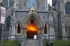 Scènes d'église de Noël, Montréal du centre photographie stock