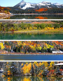 Scènes d'automne et d'hiver du Colorado Photographie stock