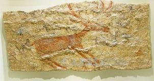 Scènes de chasse des peintures néolithiques de Catalhoyuk Image stock