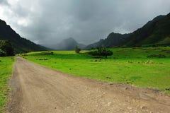Scènes de film de vallée de kahana Images libres de droits