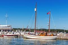 Scènes de la marina de Sopot Photo stock