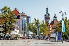 Scènes de la promenade principale dans Sopot Image libre de droits