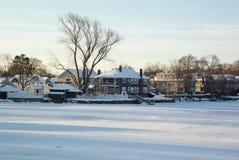 Scènes de neige Photographie stock libre de droits