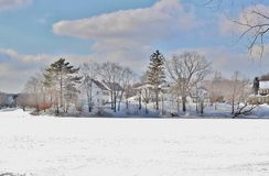 Scènes de neige Images stock