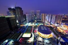 Scènes de nuit à Qingdao Photo stock