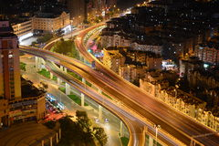 Scènes de nuit à Qingdao Images libres de droits