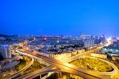 Scènes de nuit à Qingdao Image stock