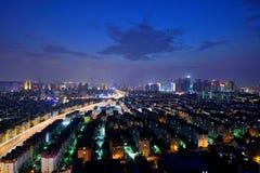Scènes de nuit à Qingdao Photos libres de droits