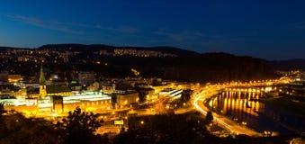 Scènes de nuit de centre de la ville Image libre de droits