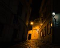 Scènes de nuit des rues de Zagreb images stock