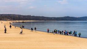 Scènes de plage Photographie stock libre de droits