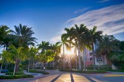 Scènes de plage de Miami la Floride un jour ensoleillé Images stock