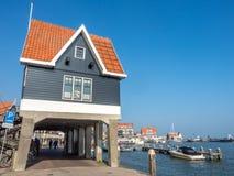 Scènes de ville de Volendam Image libre de droits