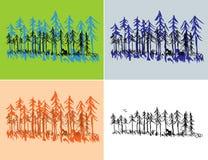 Scènes saisonnières de forêt Photos stock