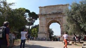 Scènes van de Boog van Titus in Rome (1 van 7) stock video