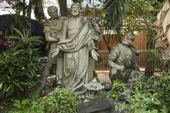 Scènes van de kruisiging van Jesus Stock Fotografie