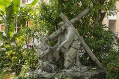 Scènes van de kruisiging van Jesus Royalty-vrije Stock Foto's