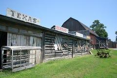 Scènes van een oude het westenstad Stock Foto's