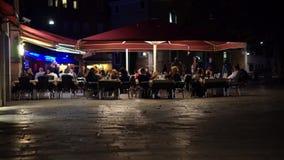 Scènes van Nachtleven in Venetië Italië (9 van 10) stock videobeelden