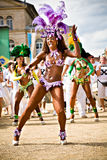 Scènes van Samba Royalty-vrije Stock Afbeeldingen