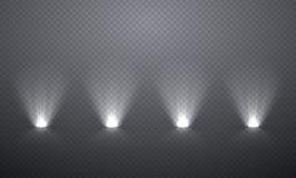 Scèneverlichting van onderaan, transparante gevolgen voor een plaid DA stock illustratie