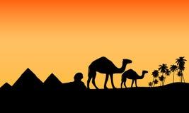 scénario exotique de l'Egypte de désert Photo stock