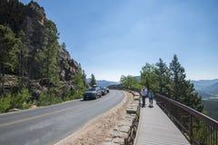 Scénique donnez sur chez Rocky Mountains Photos libres de droits