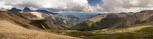 Scénique panoramique supérieur d'Imogene Pass Ouray Colorado Mountain Photo libre de droits