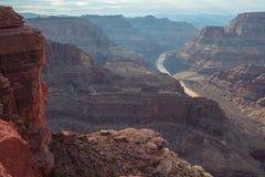 Scénique spectaculaire : Grand Canyon de point de guano, Hualapai Image stock
