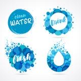 Scénographie abstraite de logo de l'eau Photographie stock