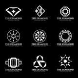 Scénographie blanche d'illustration de vecteur de logo de diamant illustration stock